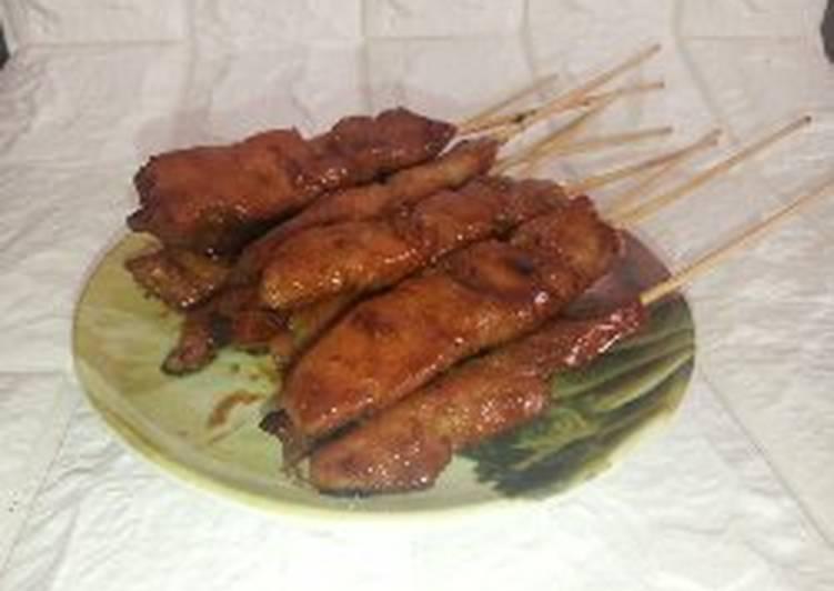 Cara Mudah mengolah Sate ayam manis enak