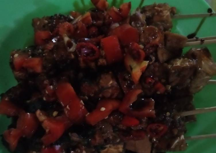 Resep: Sate tempe baso pedas manis yang menggugah selera