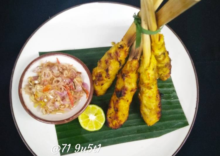Sate lilit ayam sweet spicy