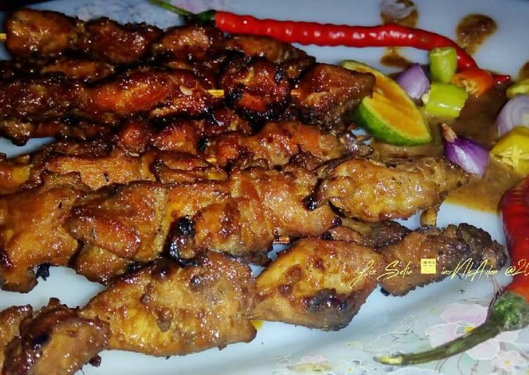 Resep: Sate ayam kampung versi sweet satay sedap