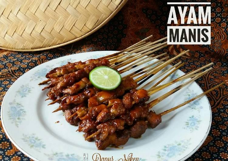 Resep: Sate Ayam Manis ala resto