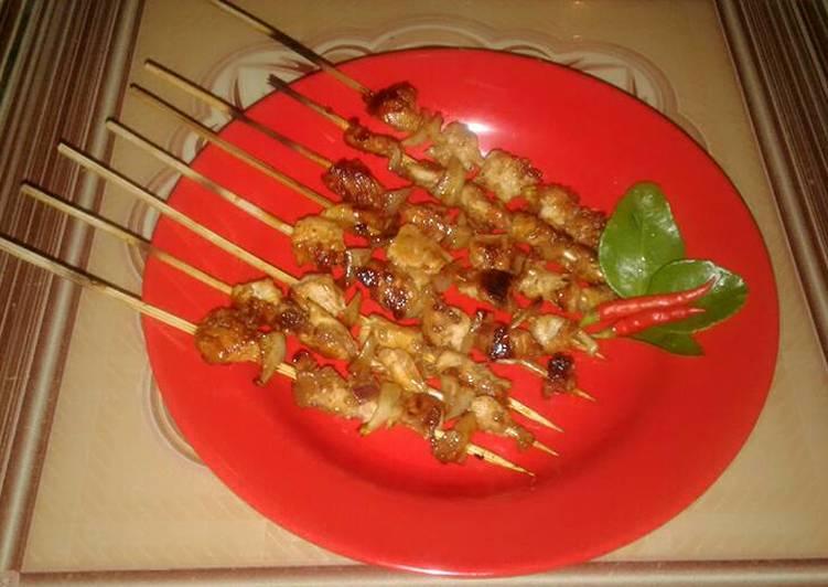 Resep memasak Sate ayam pedas manis sederhana 🎀 istimewa