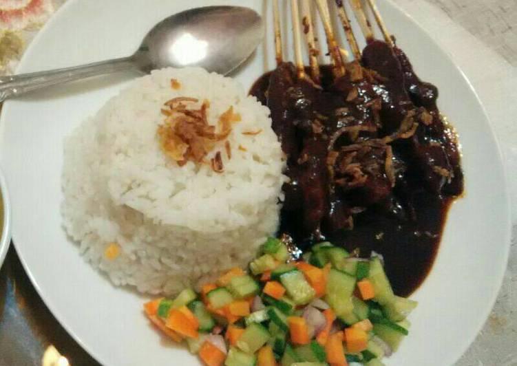 Resep: Sate Ayam Madura / Sate Bumbu Kacang / Sate Manis yang bikin ketagihan