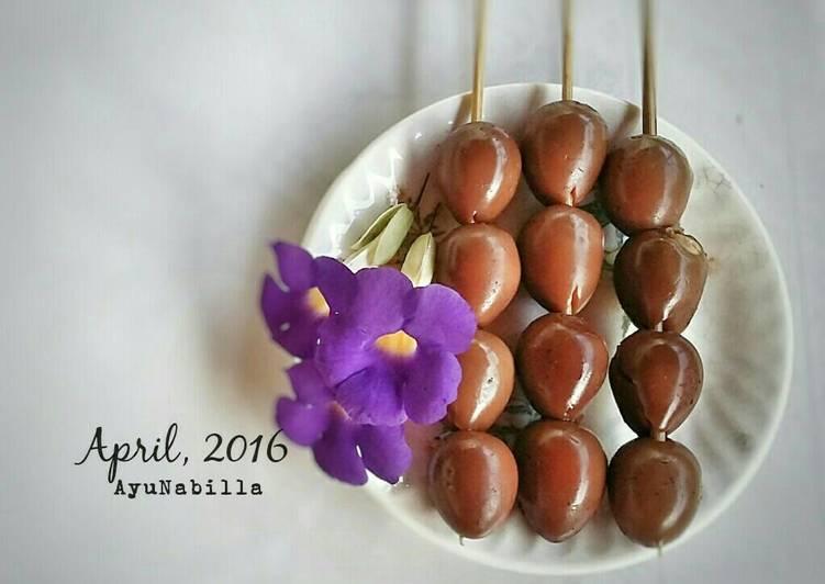Resep: Sate telur puyuh manis enak yang menggugah selera