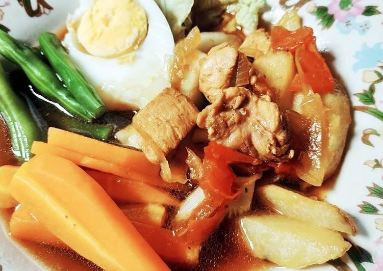 Resep memasak Selat kuah ayam ala resto