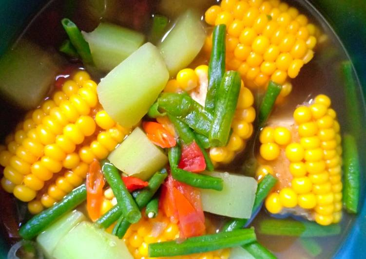 Cara Mudah memasak Sayur Asem semar mesem Ala bumbu Sajiku 😋 enak
