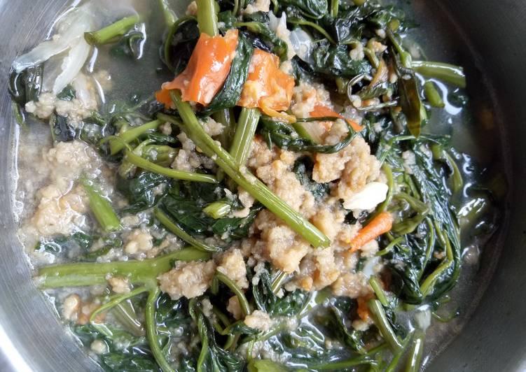 Cara memasak Tumis kangkung Dage (Tempe Gembus) enak