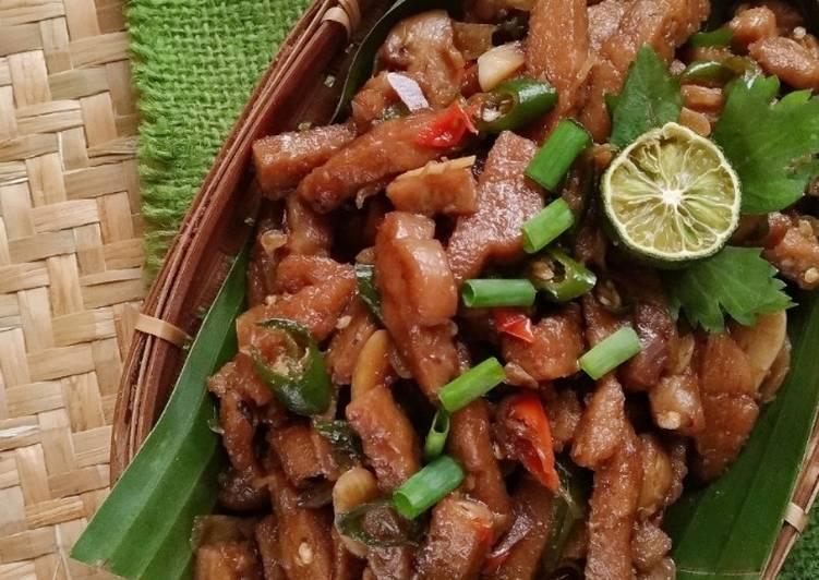 Resep: Tempe Gabus Tumis Lombok Ijo (tempe gembos) lezat