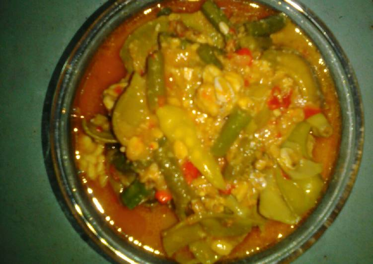 Resep: Sayur campur bumbu pedas lezat