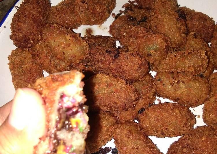Cara Mudah memasak Nugget ubi / timus isi