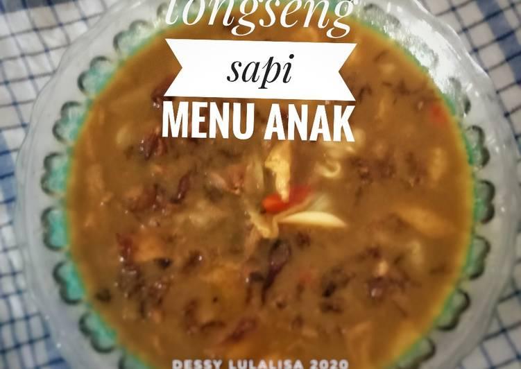 Tongseng sapi menu anak no pedas