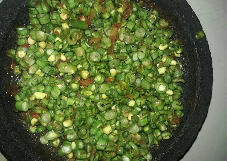 Resep: 51. Sambal kacang panjang (trancam) lezat