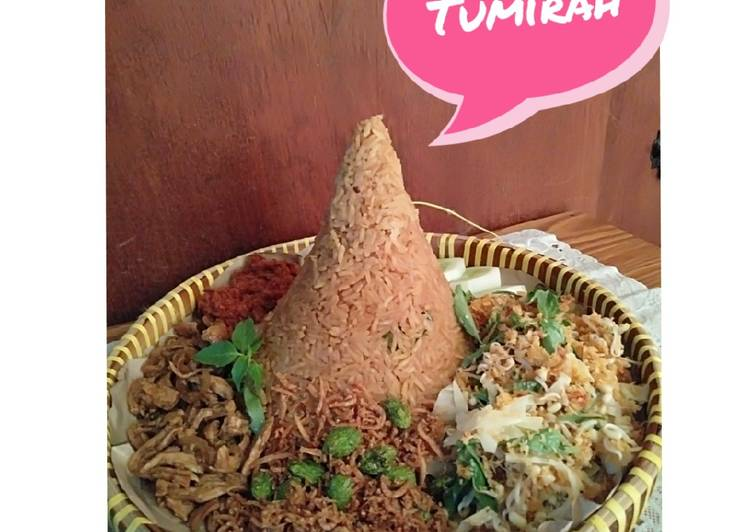 Resep memasak TUMIRAH (Tumpeng Mini Merah) yang bikin ketagihan