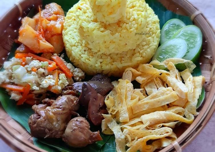 Cara Mudah mengolah Tumpeng nasi kuning magicom dengan fibercream ala resto