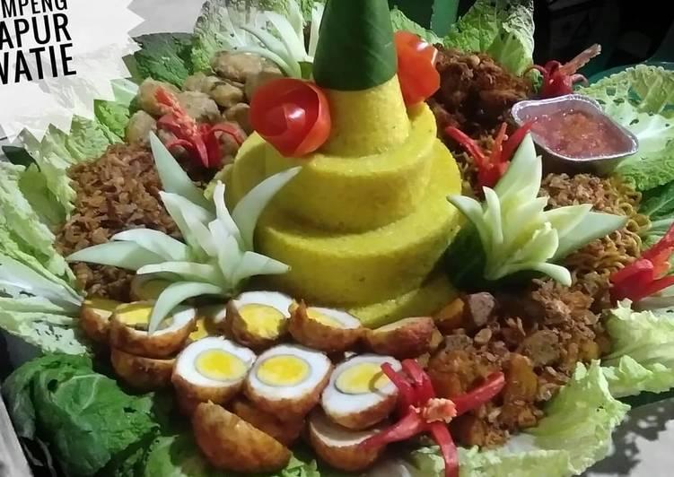 Cara mengolah Nasi tumpeng 30 porsi ala resto