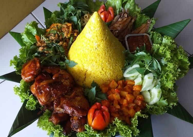 Resep: Nasi kuning tumpeng istimewa