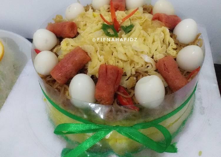 Resep membuat Tumpeng minimalis dg nasi goreng kuning ala resto
