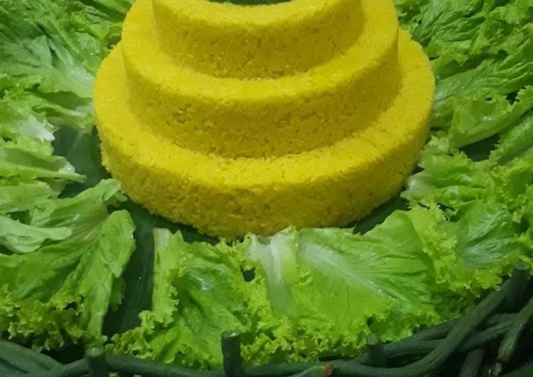 Resep: Tumpeng nasi kuning yang bikin ketagihan