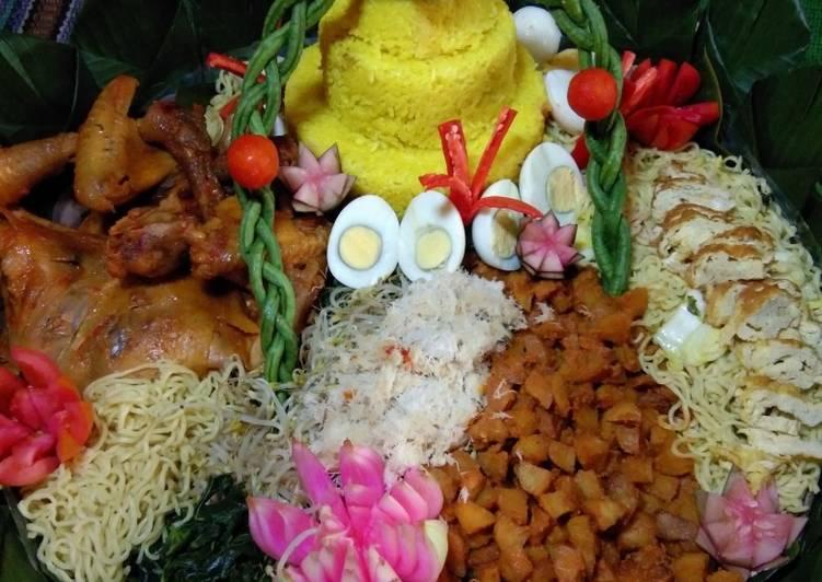 Cara mengolah Nasi kuning(tumpeng) lezat