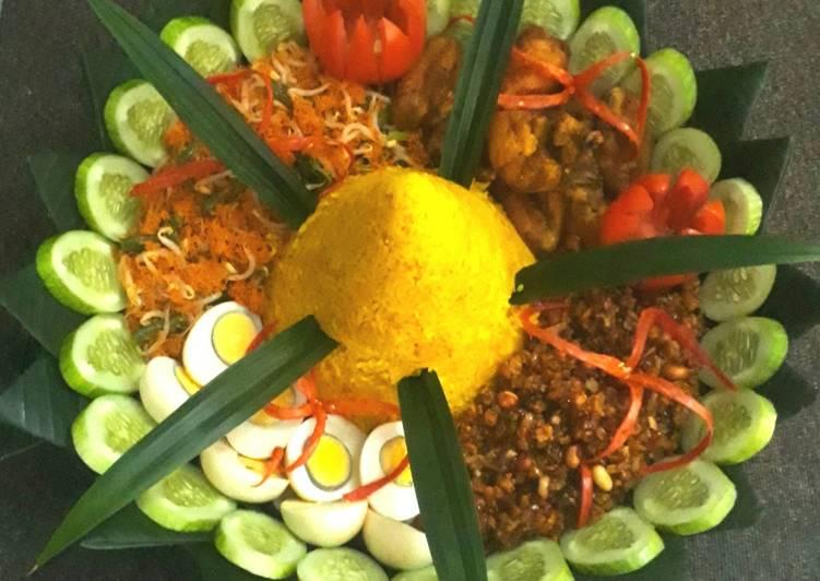 Resep memasak Nasi kuning (nasi tumpeng) lezat