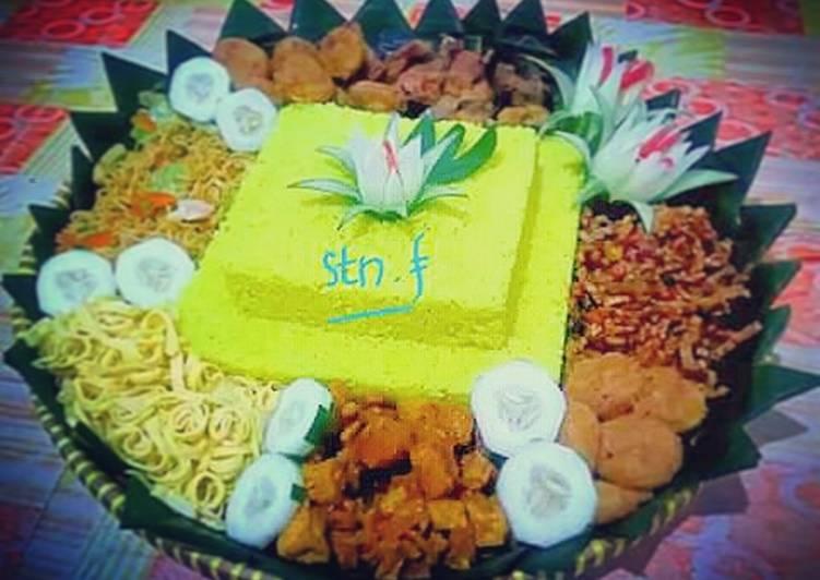Resep mengolah Nasi kuning tumpeng