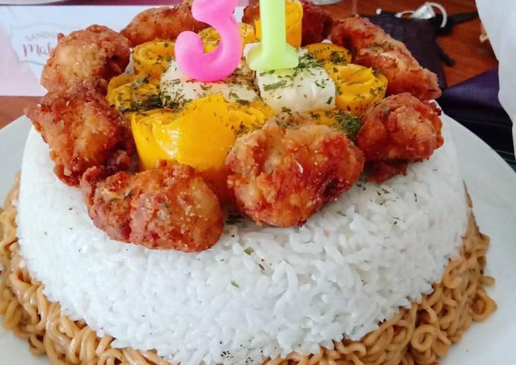 Cara Mudah membuat Tumpeng nasi lemak buat ultah suami yang bikin ketagihan