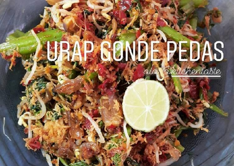 Cara Mudah memasak URAP GONDE TERASI PEDAS ala Kitchentaste yang menggugah selera