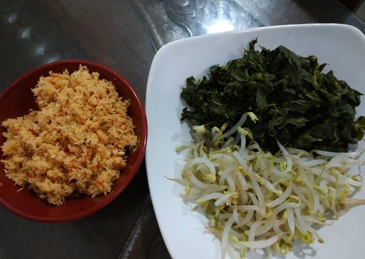 Cara Mudah memasak Urap-urap daun singkong lezat