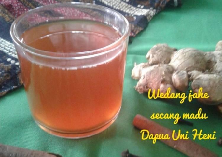 Resep: Wedang jahe secang madu ala resto