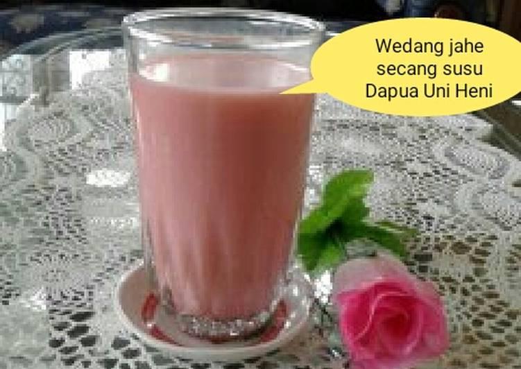 Resep: Wedang jahe secang susu ☕ yang menggugah selera