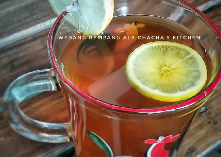 Resep: Wedang Rempang (rempah+rimpang) enak