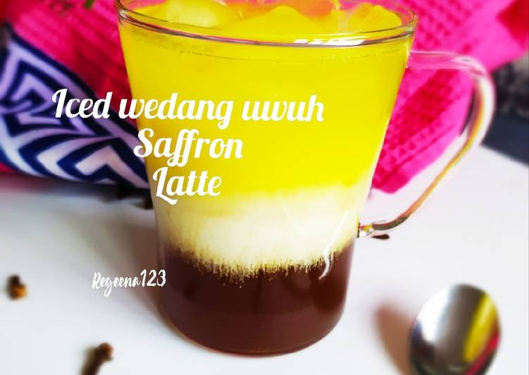 Iced wedang uwuh saffron Latte