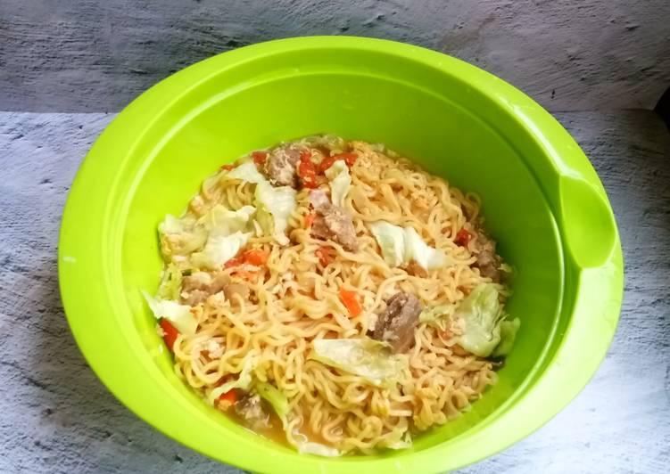 Cara memasak Mi rebus jawa (mi nyemek) lezat