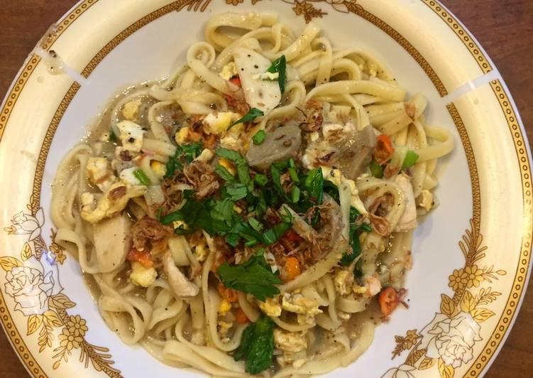 Cara Mudah memasak Bakmi Jowo Nyemek yang bikin ketagihan