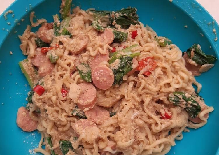Resep memasak Mie nyemek simple ala anak kos