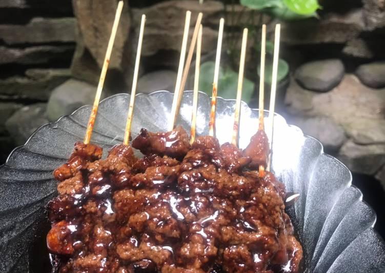 Cara mengolah Sate sapi resep Bunda 💕 lezat