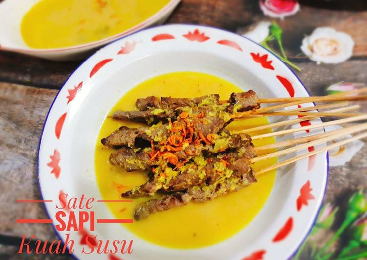 Resep: Sate Sapi ala Klathak Kuah Susu lezat