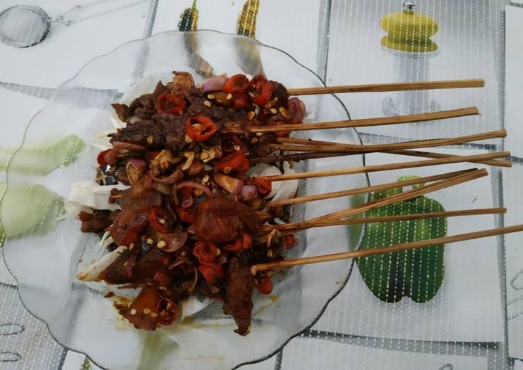 Resep mengolah Sate sapi empuk lezat