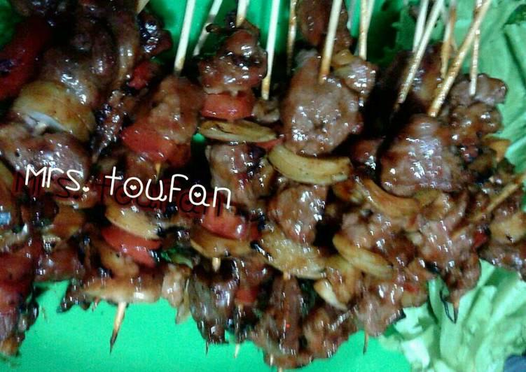 Resep mengolah Sate sapi BBQ (simple & dijamin enak!!)