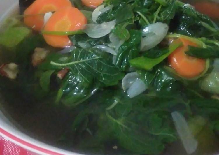 Cara Mudah memasak Tegean aka Sayur Bening Bayam enak