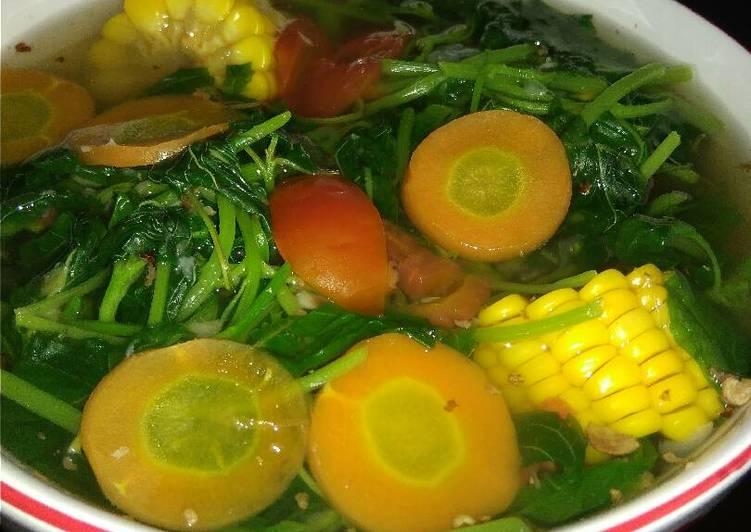 Resep: Sayur Bening Bayam/ Tegean jawa ala resto