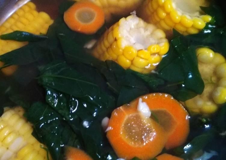 Resep: Sop bening kencur / tegean beningan kencur daun katuk yang bikin ketagihan