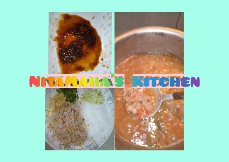 Resep membuat 40.Tauto Daging Sapi Pekalongan Ala NitaMaha's Kitchen 👩🍳 enak