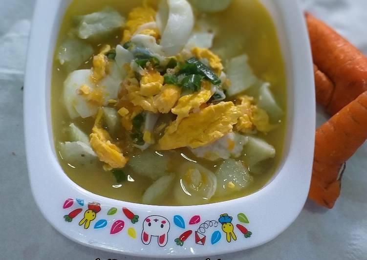 Resep: MPASI 8M - Lontong Sayur + Telur ala resto