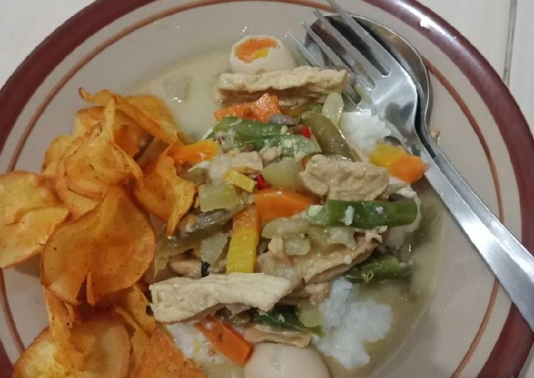Resep: Lontong sayur buncis istimewa
