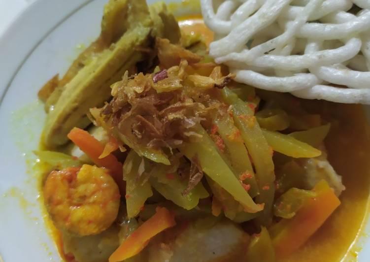Resep mengolah Lontong sayur lezat