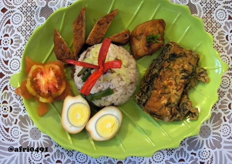Cara Mudah memasak Sego Megono Wonosobo Lauk Tempe Kemul dan Baceman lezat