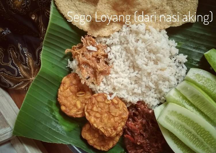 Cara memasak Sego loyang (nasi loyang) Khas Jepara yang bikin ketagihan