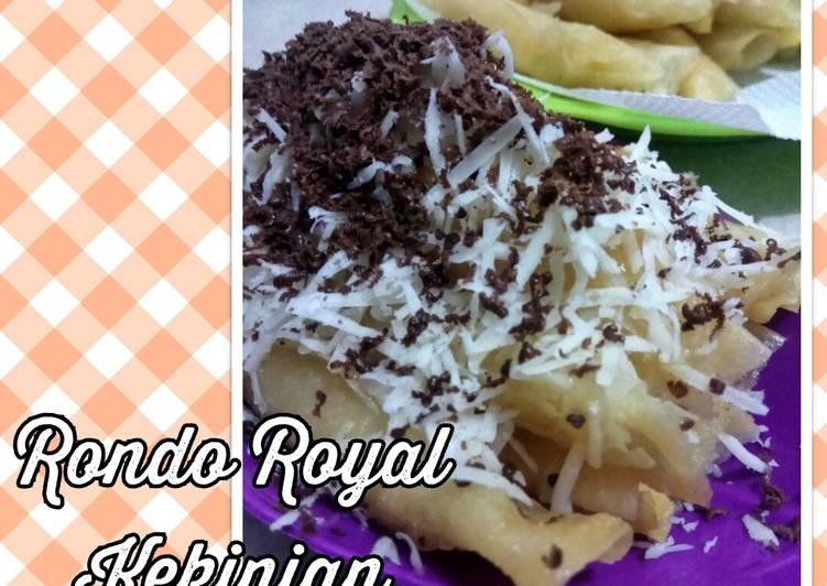Cara Mudah membuat Rondo Royal Kekinian yang bikin ketagihan