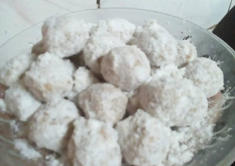 Resep: Bola kacang salju no oven lezat